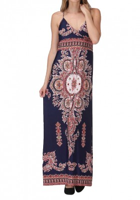 How To Wear A Tribal Print Maxi Dress Depending On Your Body Type