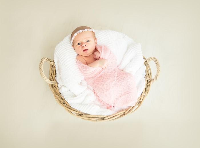swaddling baby